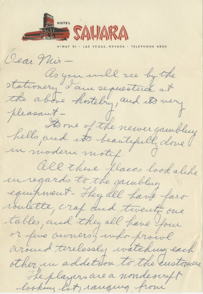 Selection from the Groucho Marx archive of correspondence to his daughter Miriam, estimated at $1,000-$1,000,000