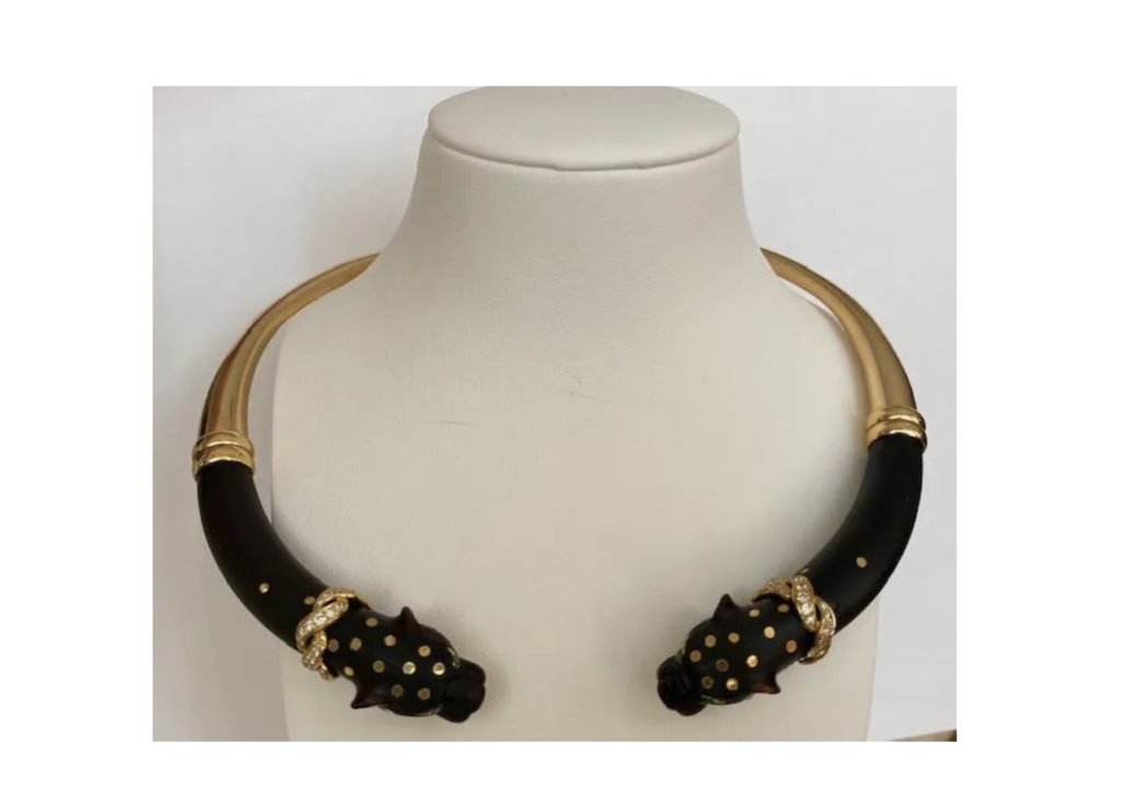 Gay Freres necklace in 18K yellow gold and ebony, estimated at $5,000-$6,000