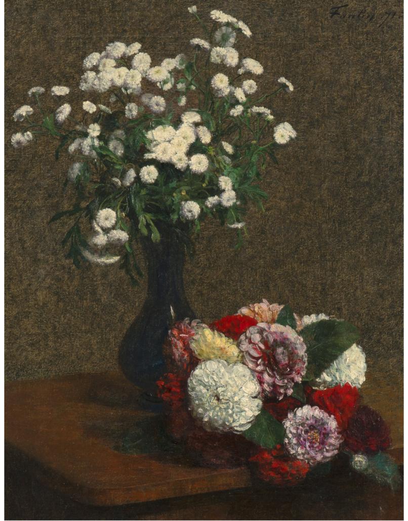Henri Fantin-Latour, 'Fleurs: camomille et dahlias,' estimated at $250,000-$350,000