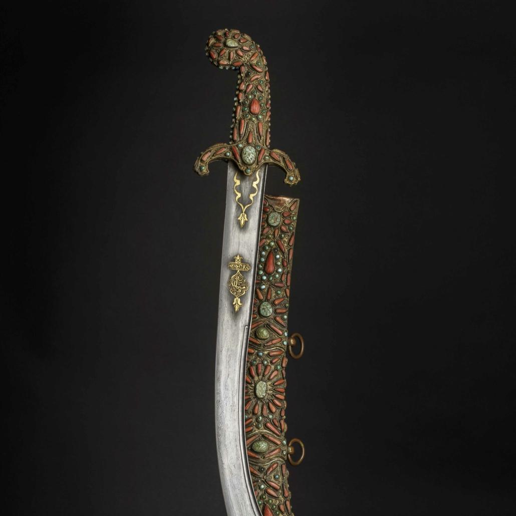 19th century Turkish kilij, or saber, estimated at €6,000-€12,000