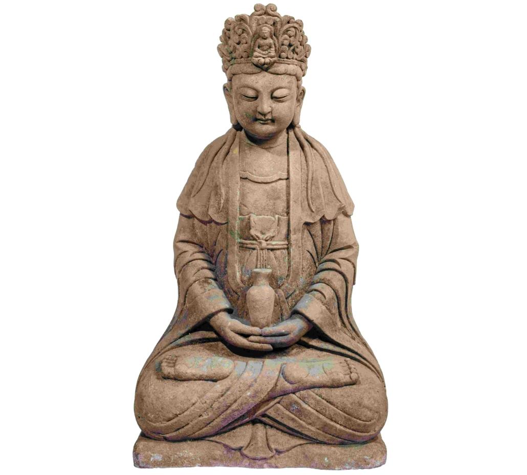 Sandstone sculpture of Guanyin, estimated at €24,000-€48,000