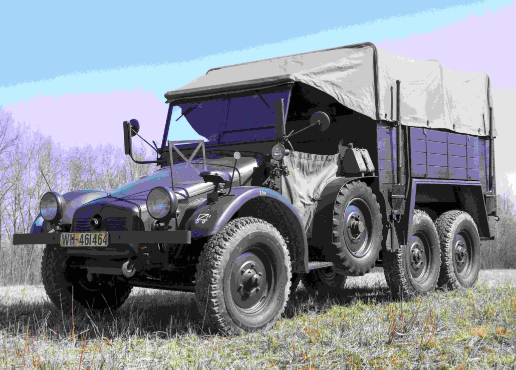 Krupp-Protze all-terrain six-wheeled truck and artillery tractor, estimated at €145,000-€290,000