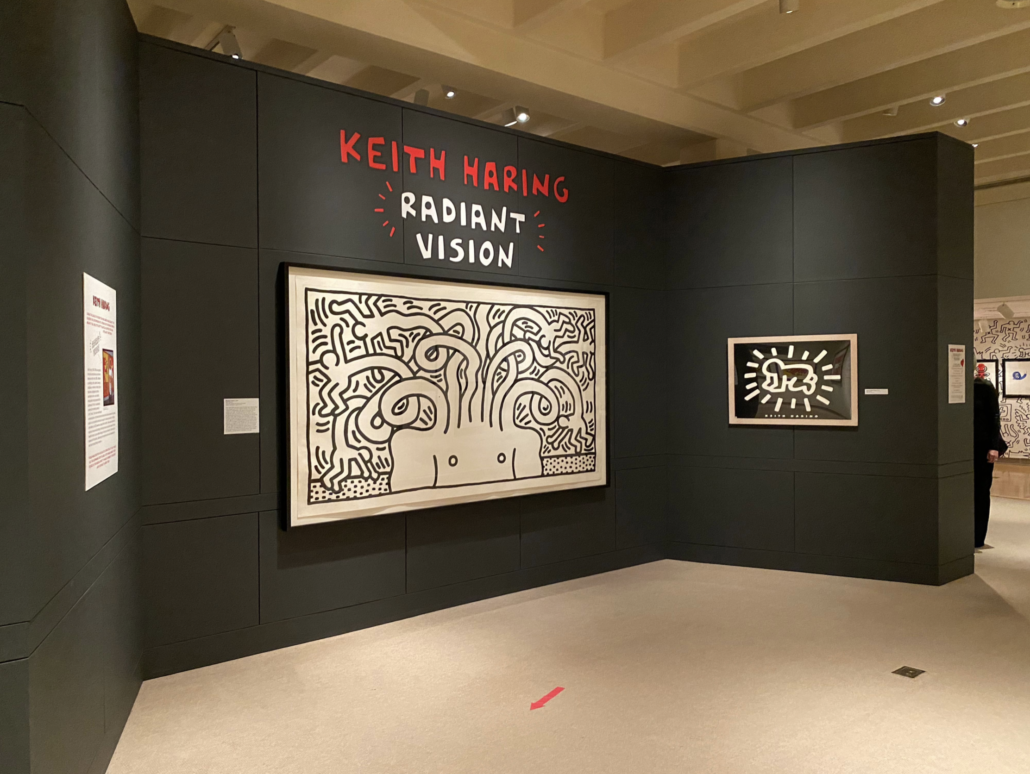 Installation shot of Keith Haring: Radiant Vision at the Fenimore Art Museum