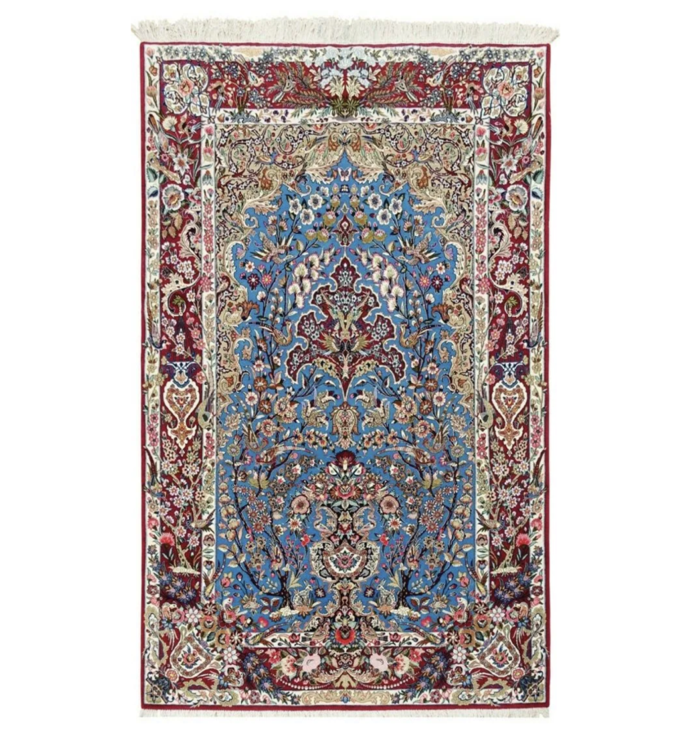 Iranian rug depicting the Tree of Life, estimated at $8,000-$10,000