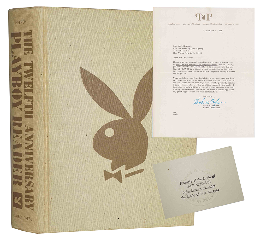 Jack Kerouac's personal advance 1965 copy of 'The Twelfth Anniversary Playboy Reader,' which sold for $8,125