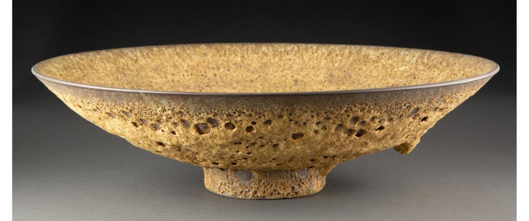 James Lovera undated lava-glazed porcelain bowl, estimated at $3,000-$5,000