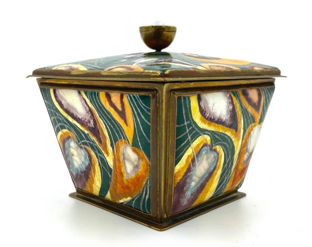 Kenneth Francis Bates, 'Peacock Box,' which sold for $3,998