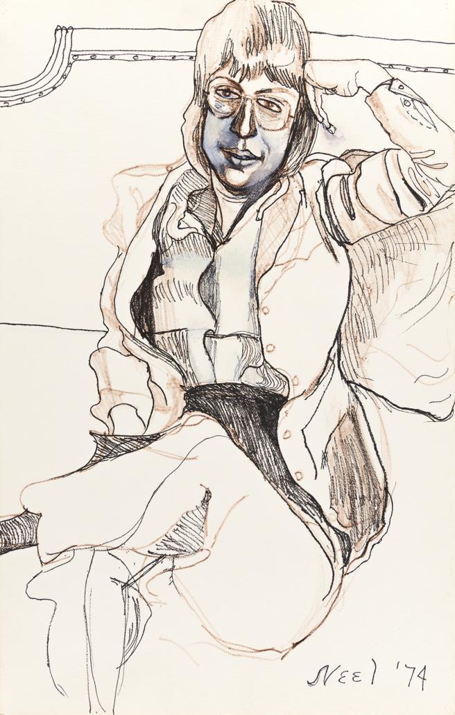 Alice Neel, 'Portrait of Harriet Lyons,' estimated at $20,000 to $30,000