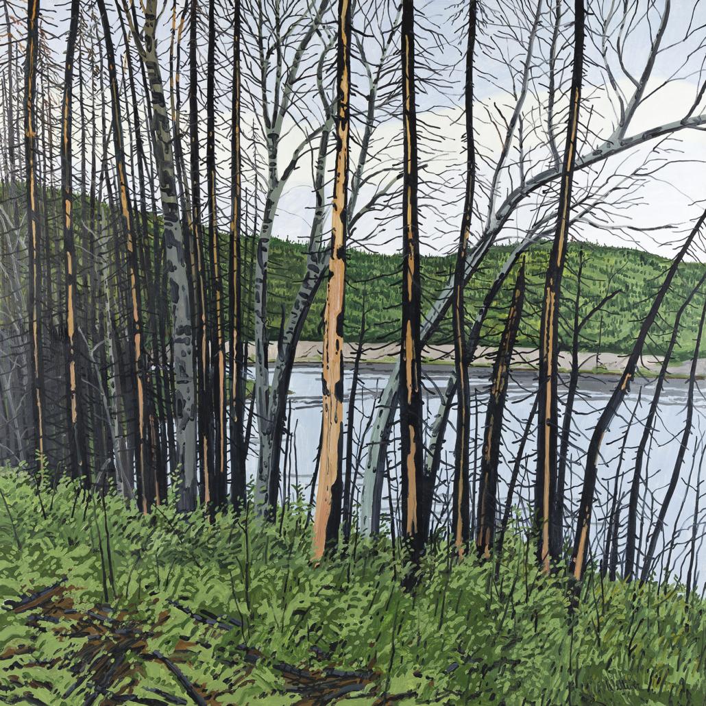 Neil Welliver, 'Shaled Trees, Alagash,' estimated at $15,000-$20,000