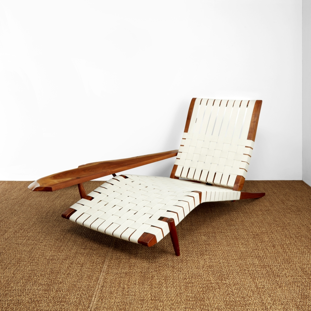 George Nakashima 1979 long chair with arm, which sold for $47,250