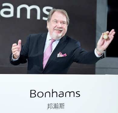Bonhams Co-Chairman and CEO Asia Malcolm Barber. Courtesy of Bonhams Images LTD 2021.