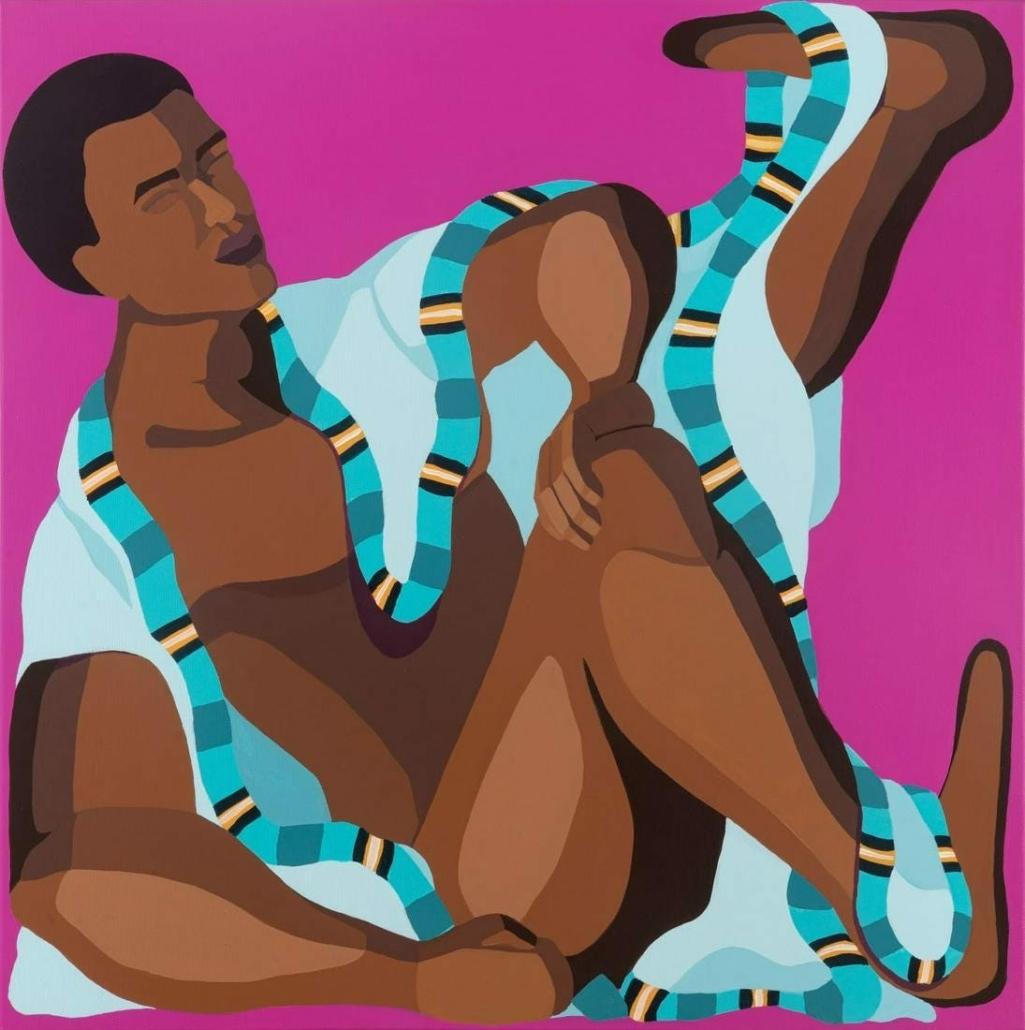 Nirit Takele, 'Stretching Leg,' estimated at $4,000-$6,000