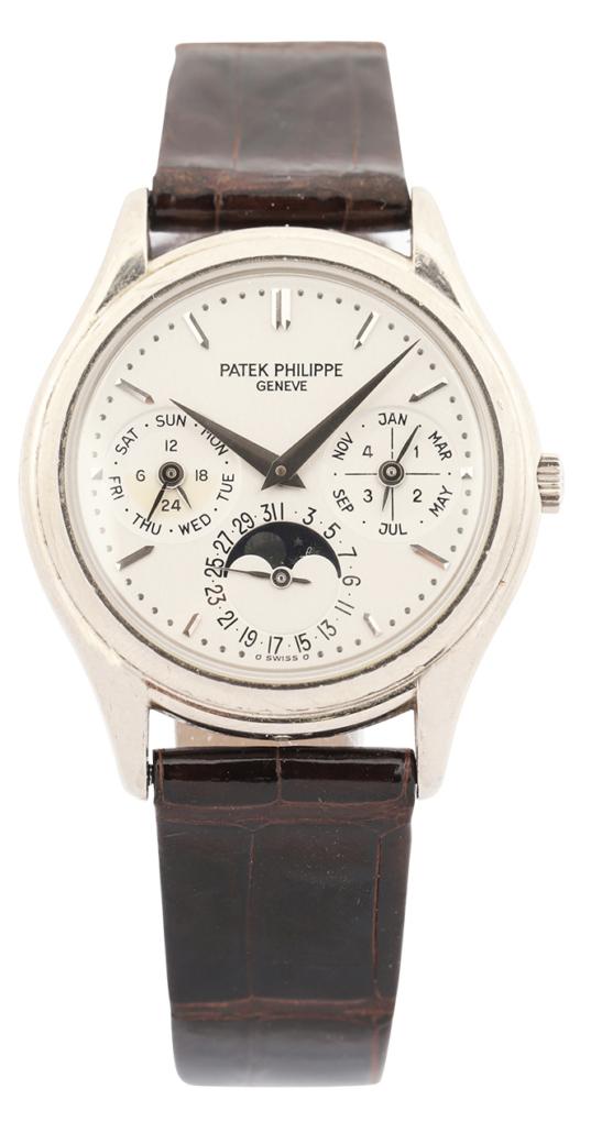Patek Philippe Reference 3940 perpetual calendar men's watch, estimated at $35,000-$45,000