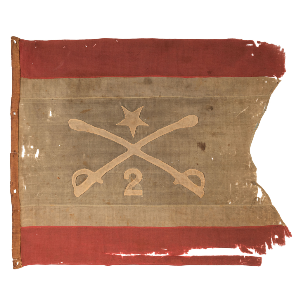 Flag Philip Henry Sheridan used when leading the 2nd Michigan Cavalry during the Civil War, estimated at $20,000-$30,000