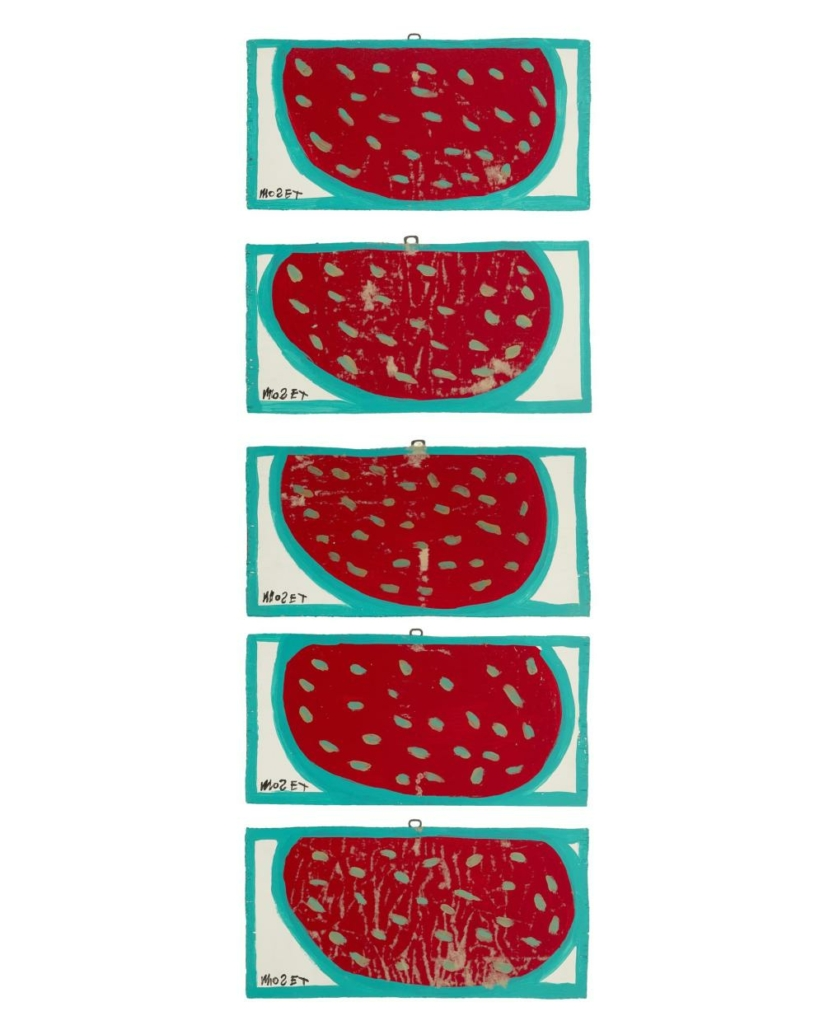 Mose Ernest Tolliver, 'Watermelons,' set of five, which sold for $1,375