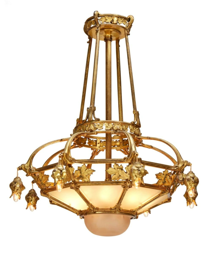 Gilt-bronze chandelier, which sold for $3,125