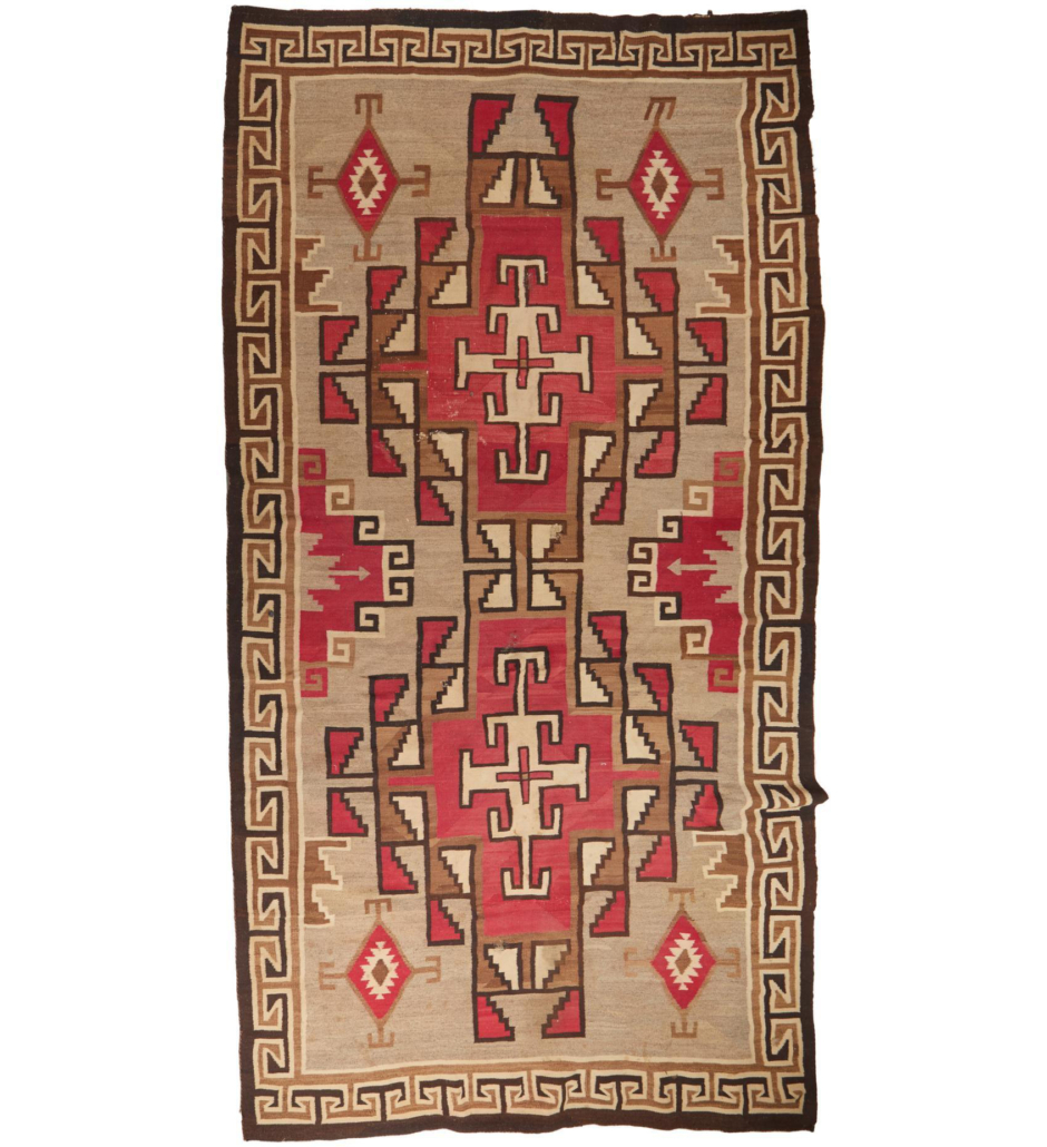 Navajo crystal room-sized rug, which sold for $11,875