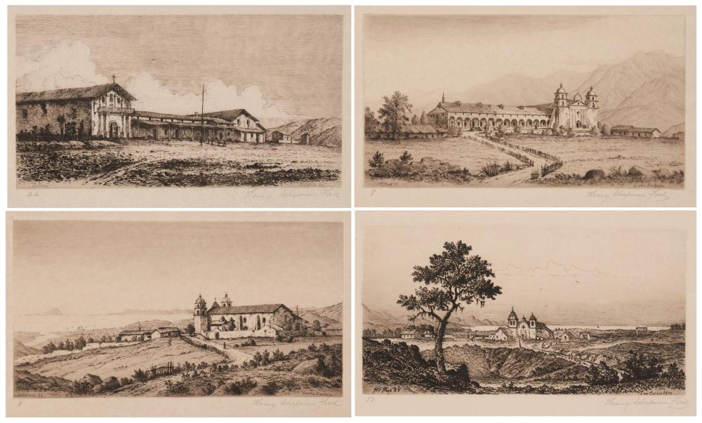 Henry Chapman Ford, 'Etchings of the Franciscan Missions of California' portfolio, which sold for $34,375
