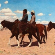 Gaspard de Latoix, 'Two Indians on Horseback,' which sold for $37,500