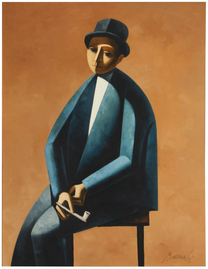 Duilio (Dube) Barnabe, 'Man Seated with Pipe,' which sold for $31,250