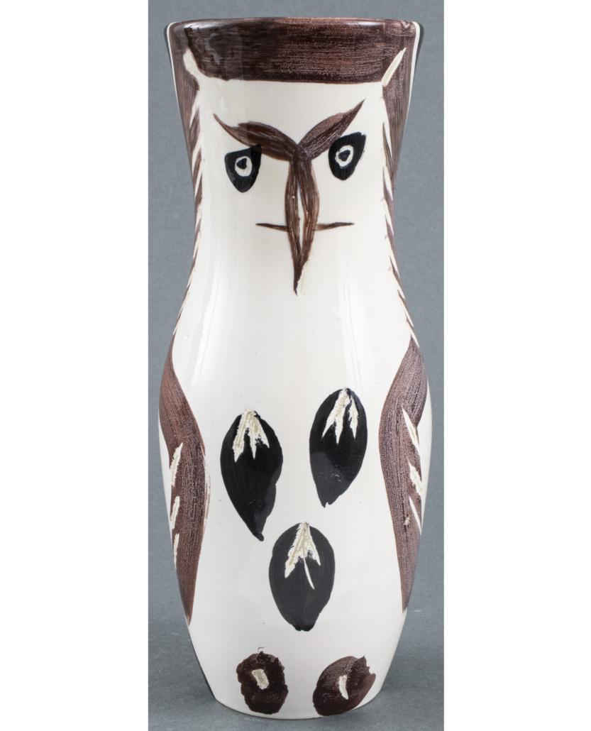 Pablo Picasso Chouetton vase, estimated at $4,000-$6,000