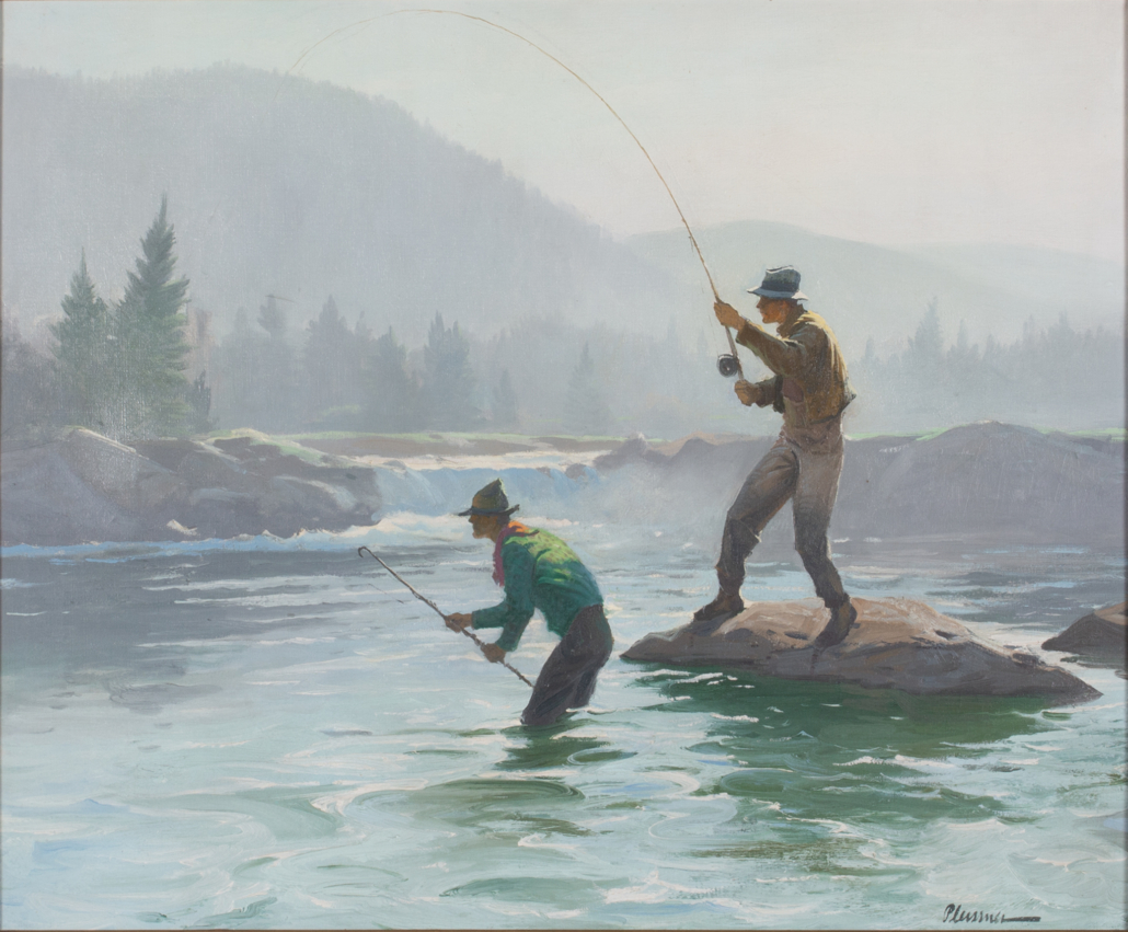 Ogden M. Pleissner, 'Salmon Fishing,' estimated at $60,000-$90,000.