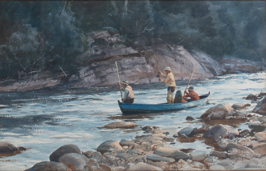 Ogden M. Pleissner, 'Waiting for the Rise,' estimated at $50,000-$80,000
