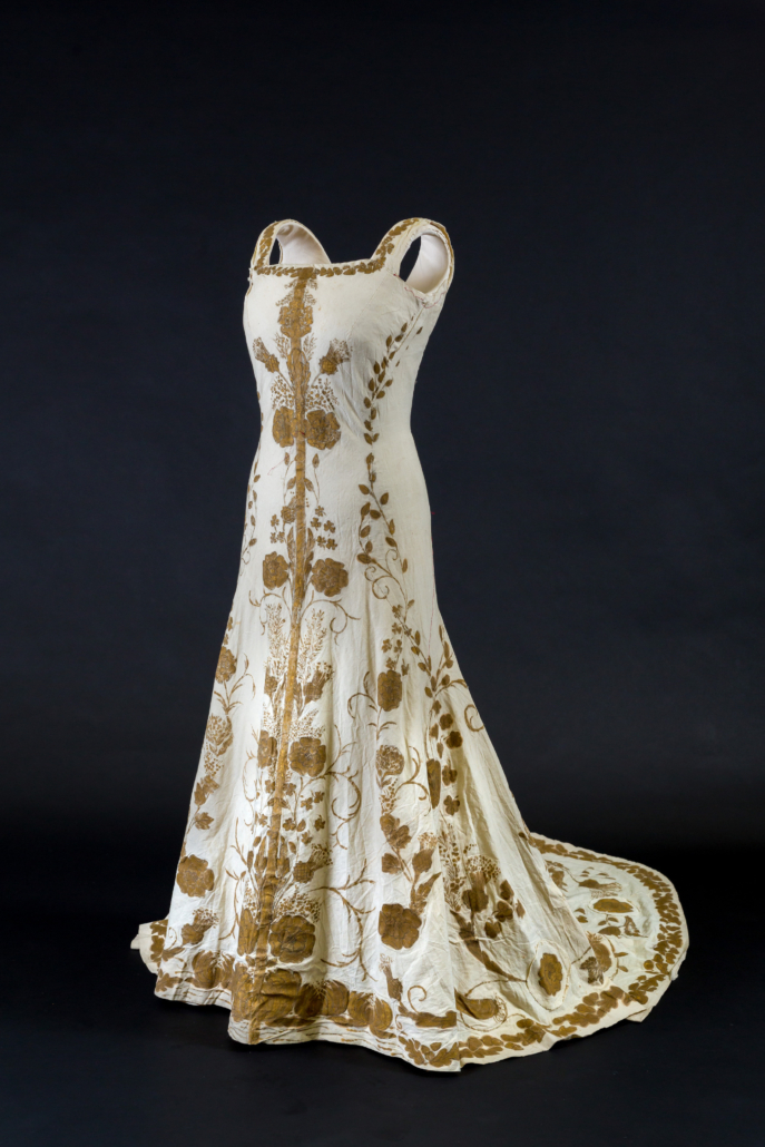 On view in the Royal Style in the Making exhibition is Queen Elizabeth The Queen Mother's 1937 coronation gown toile. © Historic Royal Palaces.jpg