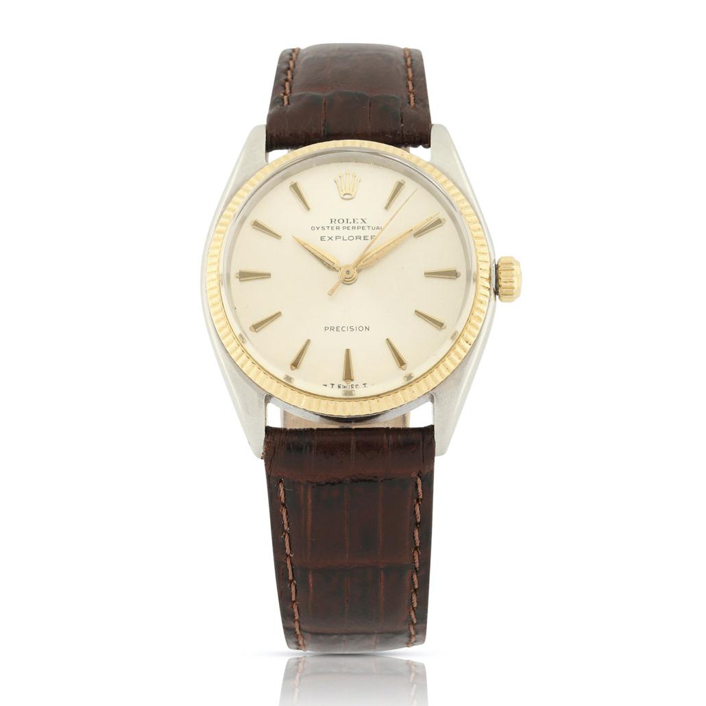1963 Rolex Ref. 5501 Explorer Precision watch, which sold for CA$5,605