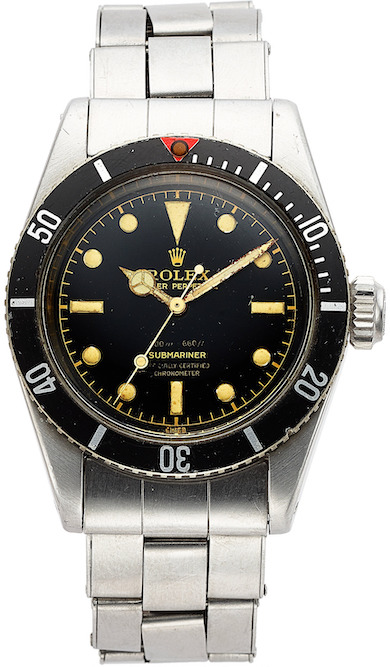 Scarce Rolex Submariner sailed away with top lot status at Heritage June 1