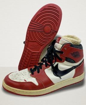 Jordan-worn sneakers occupy lofty place in sports memorabilia marketplace