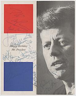 Marilyn Monroe-signed 1962 JFK birthday celebration program sells for $29K