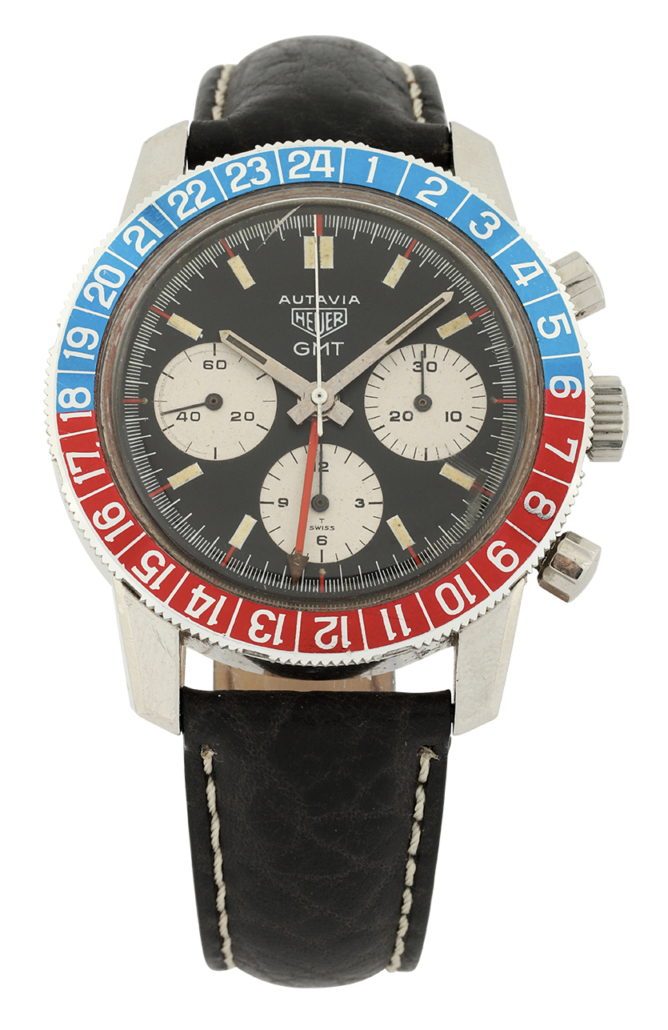 Tag Heuer Autavia GMT 2446C watch, estimated at $18,000-$20,000