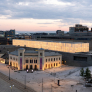 Exterior of Norway's National Museum with its Light Hall visible. Photo by Borre Hostland.