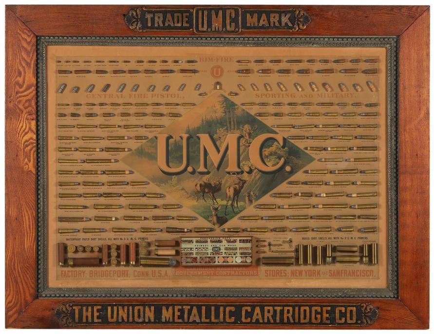 Union Metallic Cartridge Company board, which sold for CA$53,100