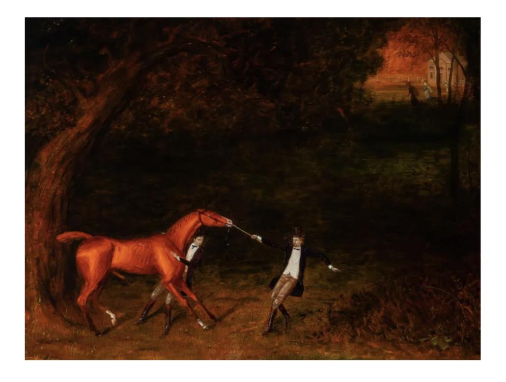 Walton Ford, 'Best Breeding,' estimated at $12,000-$18,000. Courtesy of Doyle New York Images Ltd 2021