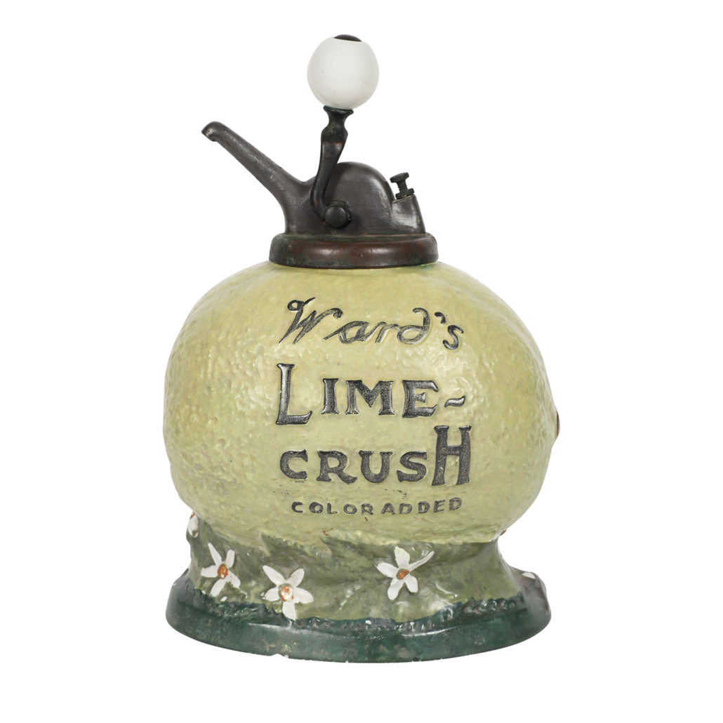 1920s Ward's Lime Crush syrup dispenser, estimated at CA$ $4,000-$5,000