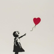 A 2004 screenprint of 'Girl with Balloon' earned $282,247 plus the buyer's premium in March 2021 at Forum Auctions.