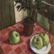 Nikolai Efimovich Kuznetsov, 'Still life with Apples and an Orange Tree,' which sold for £212,750 and a new world auction record for the artist. Image courtesy of Bonhams Images Ltd.