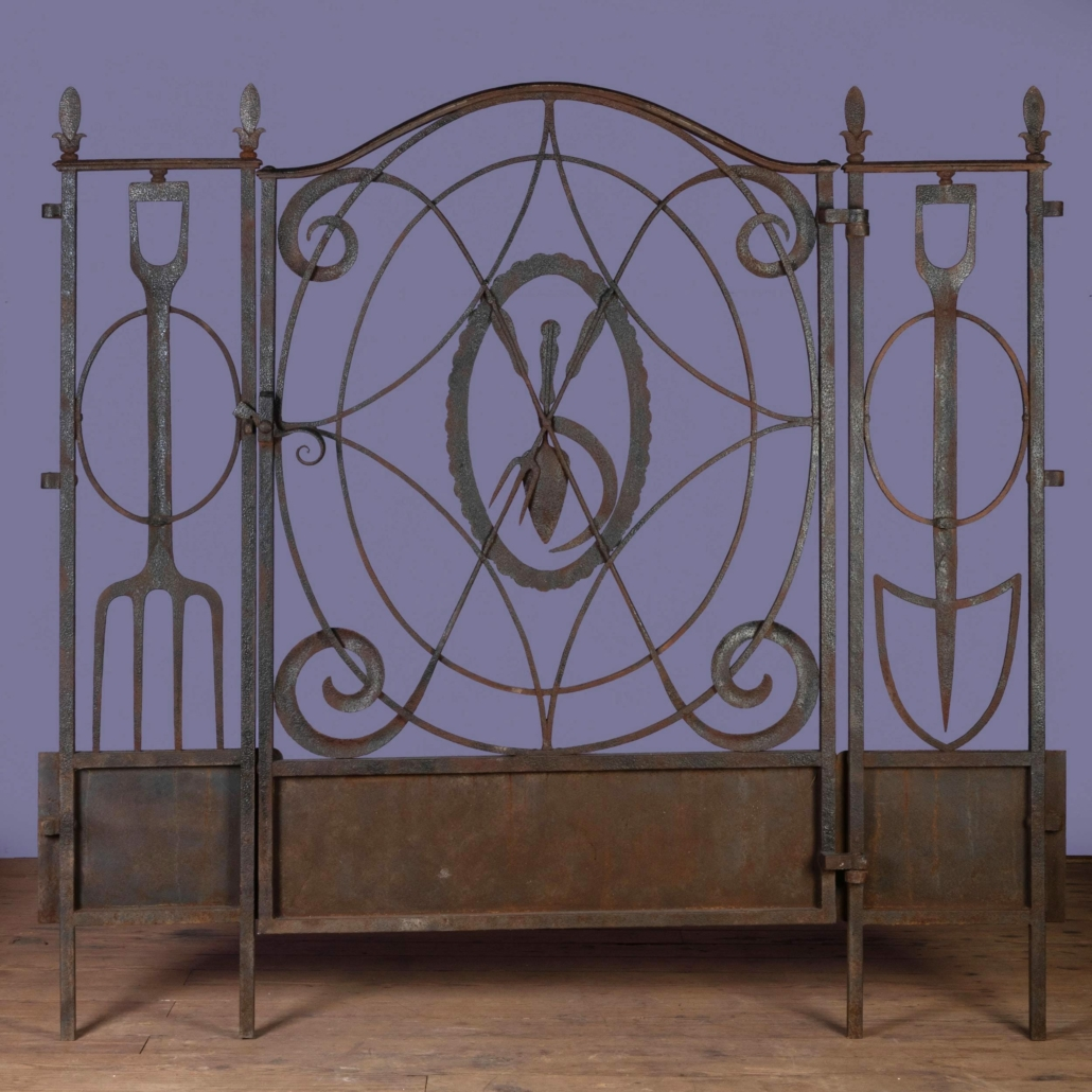 A wrought iron garden gate designed by William Adams Delano earned $36,000 plus the buyer's premium in April 2021 at Stair.