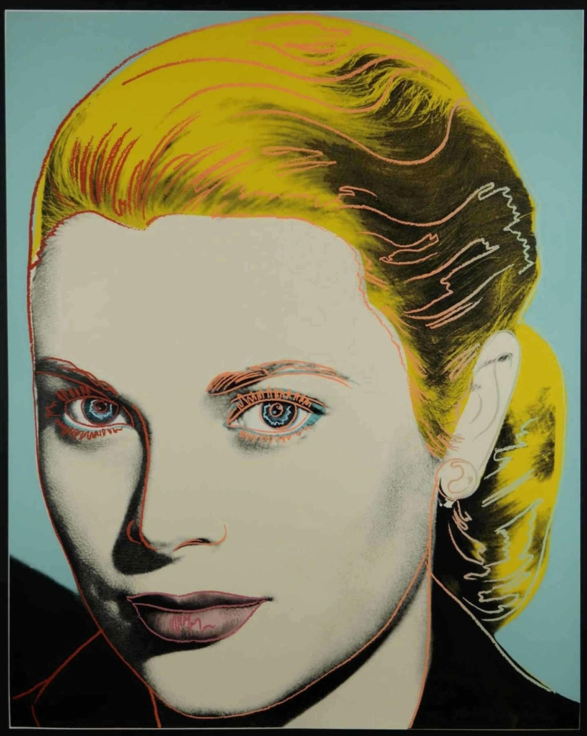 A 1984 Andy Warhol screenprint of Grace Kelly realized $75,000 plus the buyer's premium at Quinn's in November 2019.