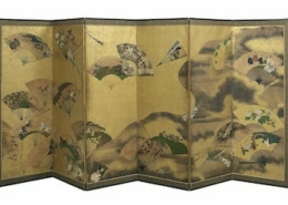 This Edo period Japanese six-panel folding screen realized $46,000 plus the buyer's premium in May 2020 at New Orleans Auction Galleries.