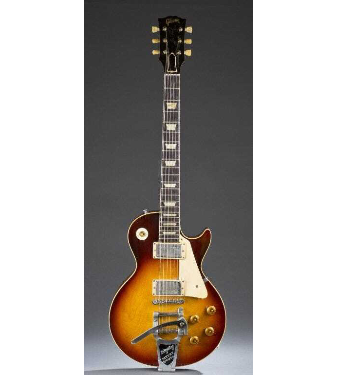 A 1960 Gibson Les Paul Sunburst electric guitar realized $140,000 plus the buyer's premium at Quinn's in September 2014.