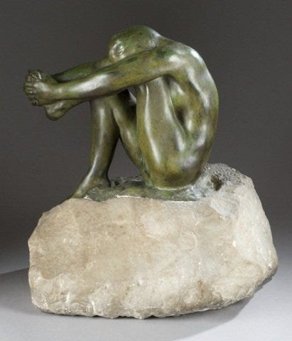 This Auguste Rodin 'Le Desespoir' bronze sold at Quinn's for $260,000 plus the buyer's premium in May 2014.