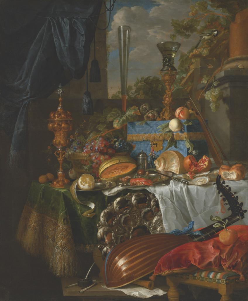 Jan Davidsz. de Heem, 'A Banquet still life,' estimated at £3 million-£5 million. Courtesy of Christie's Images LTD 2021