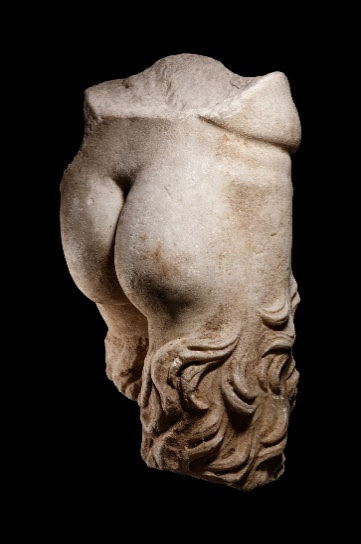 Roman marble lower torso of a satyr, which sold for $75,000