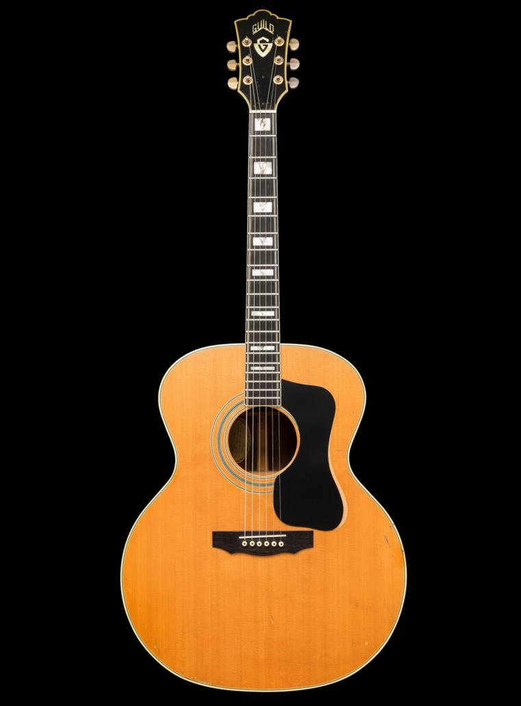 1974 Guild F-50R natural acoustic guitar Schon used to write 'Wheel in the Sky' and 'Patiently'