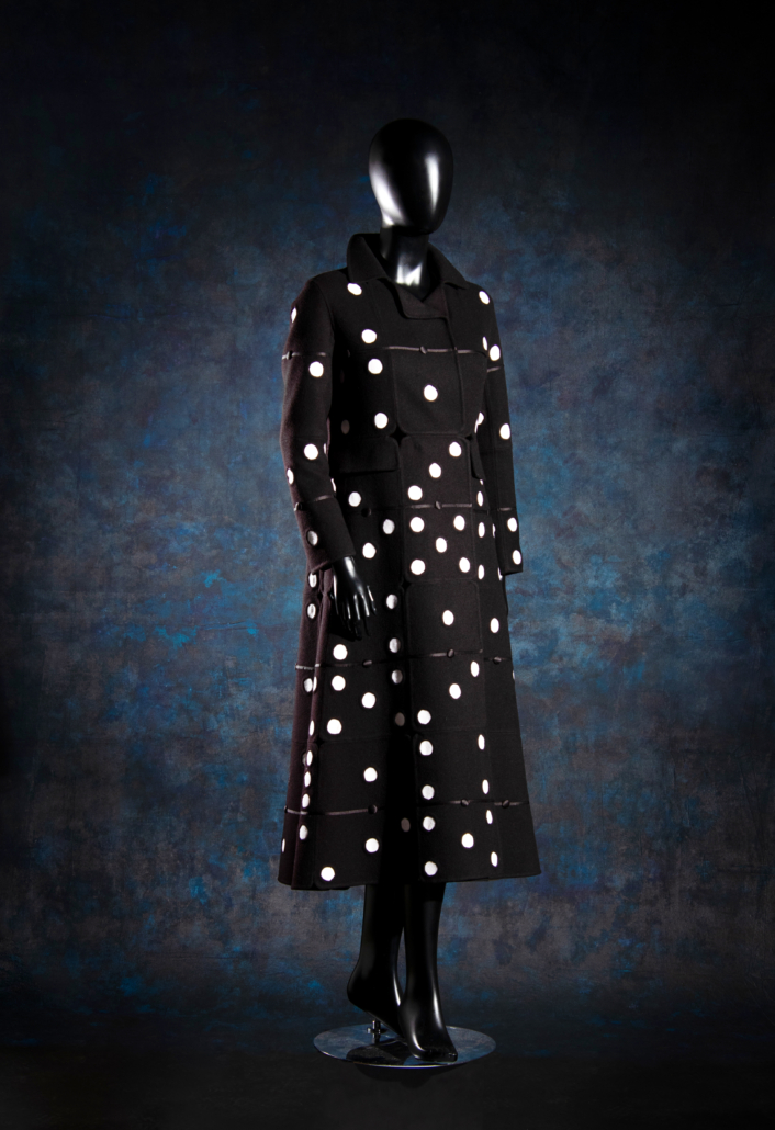 1.Christian Dior haute couture domino pattern wool coat, Spring/Summer 2018, est. $4,000 - $6,000