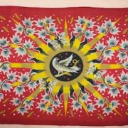 1950 Jean Picart Le Doux silkscreened cotton tapestry, estimated at $1,000-$1,200