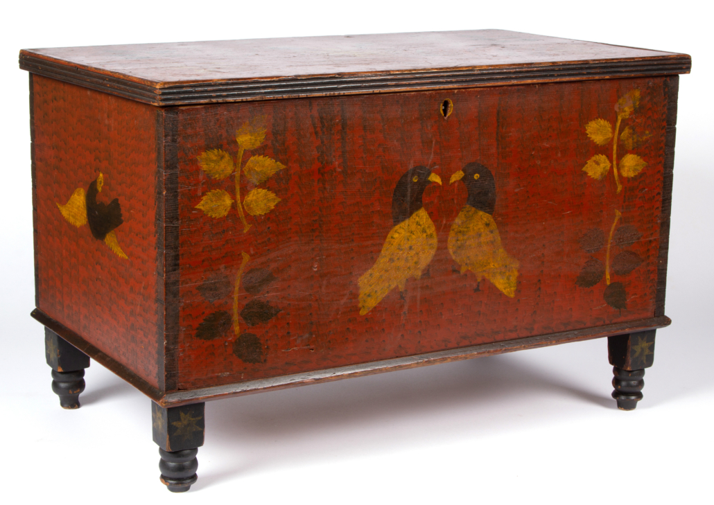 Shenandoah Valley paint-decorated Stirewalt chest, which sold for $76,050